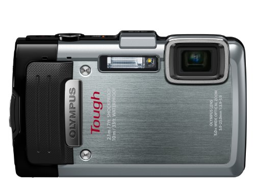 Olympus Stylus TG-830 iHS Digital Camera with 5x Optical Zoom and 3-Inch LCD (Silver) (Old Model)