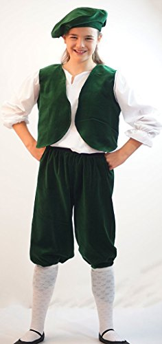 [Fancy Dress-World Book Day-Edwardian-Victorian TUDOR-BARON COSTUME COMPLETE Available in 3 colours - ALL] (Panto Costumes For Kids)