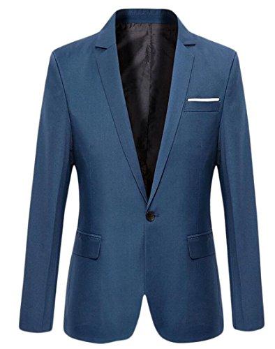 Nice ainr Mens Premium Fashion One Button Blazer Slim Fit Coat Jacket for cheap
