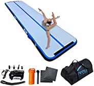 AMGSPORT Air Track, 16ft/20ft/26ft Airtrack With Thickness 4/6 Inches Of Gymnastics Training Mats With For Hom