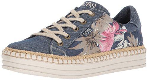 Skechers BOBS Womens Tropical Print Wedge Sneaker