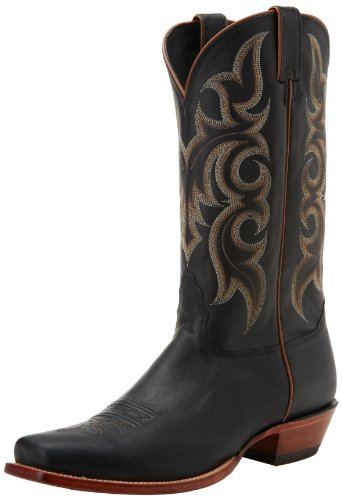 Nocona Boots Men's Legacy L Toe Boot - Black Calf - 11 2E US