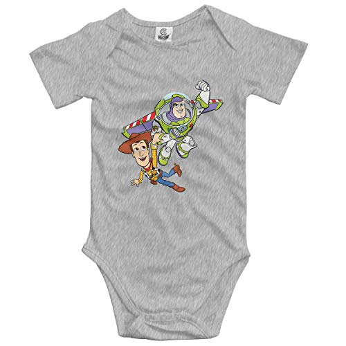 Toy Story, Woody and Buzz Lightyear Cotton Jumpsuit Romper Bodysuit Onesies Infant Boy Girl Clothes Gray