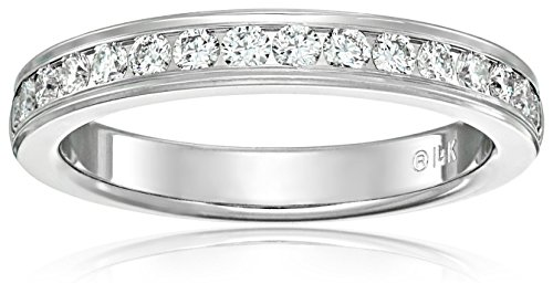 14k White Gold 3mm Channel-Set Diamond Wedding Band (1/3 cttw, G-H Color, SI1-SI2 Clarity)