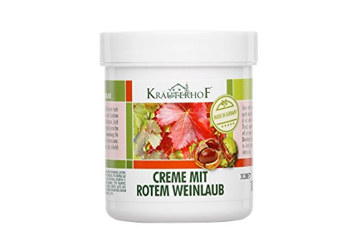 KrauterhoF Foot Cream for Varicose Veins with horse chestnut and red vine leaves by Krauterhof