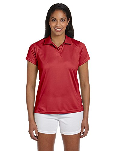 Harriton Ladies' 4 oz. Polytech Polo>XL RED M315W