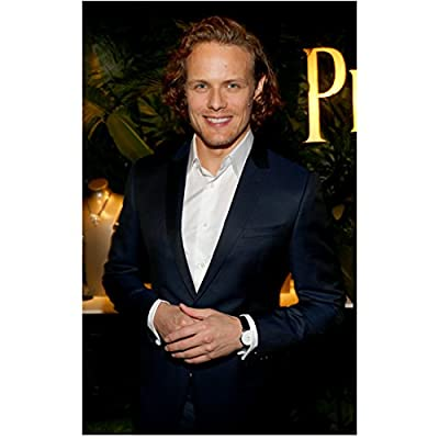 Sam Heughan Hands Clasped Looking Dapper Big Smile 8 x 10 inch Photo