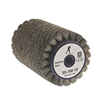 Stainless Steel Roto Brush - SS-100-10 - for Cross-Country Ski Waxing Fits 10mm Hex Shaft