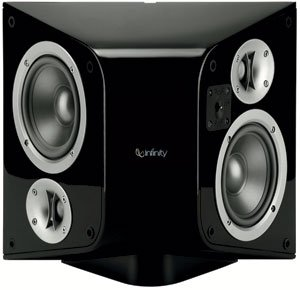 infinity surround speakers. infinity classia c255esbk two-way switchable two-channel surround speaker (single, black speakers