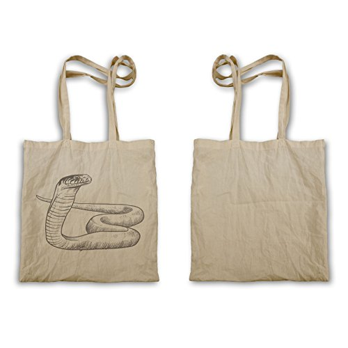 Tote Bag A Forma Di Serpente Disegnata A Mano P235r