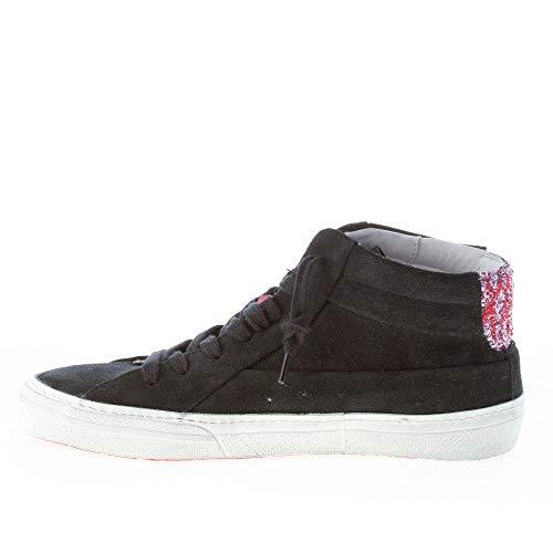 Alta Ishikawa Glitter In Sneaker Camoscio Marti Nero Rosa Donna Più ZxxHqwnF