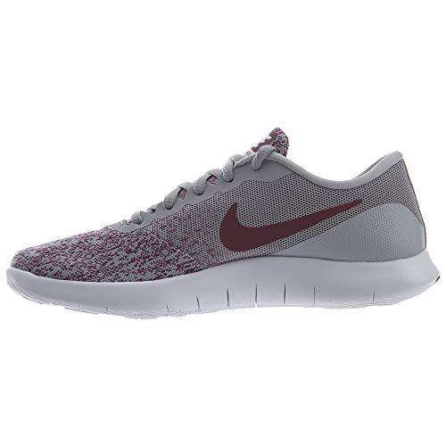 Nike Women Flex Contact Wolf Grey/Bordeaux/White 6.5 M Fabric Running Shoe