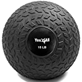Yes4All 15 lbs Slam Ball for Strength and Crossfit