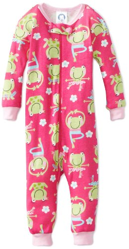 Gerber Baby Girls' 1 Piece Unionsuit Froggy Ballet Pajama