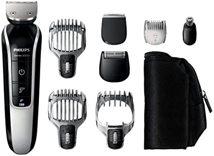382ef945b Philips Series 5000 12-In-1 Mens Grooming Kit QG3362/23, Beard Trimmer with  Hair Clippers, Moustache, Stubble, Detail Shaving, Trimming, Nose Hair and  ...