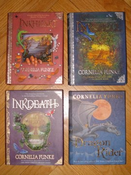 Set of 4 Inkheart, Inkspell, Inkdeath, Dragon Rider Books