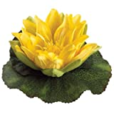 6.5''Wx6.5''L Floating Water Lily Flower Head Yellow (Pack of 24)