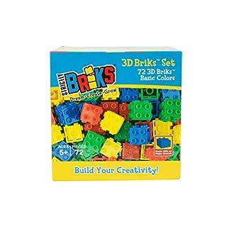 Strictly Briks Building Briks & Blocks Creative Play Sets (04 - 3D 72 Piece, 14 - Basic Color)