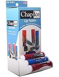 Chap Ice Assorted Lip Balm - Gravity Feed Display -...