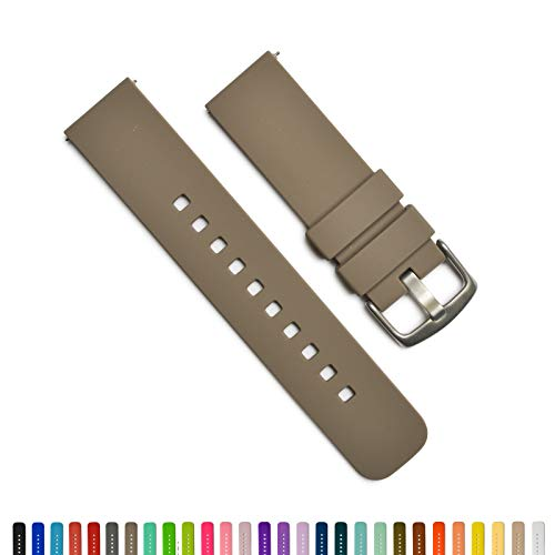 GadgetWraps 22mm Silicone Watch Band - 22mm Watch Band Silicone with Quick Release Watch Pins - for Men and Women 22mm Quick Release Watch Band with 29 Unique Colors (22mm, - Steel Competitor Ladies Band