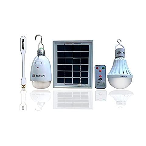 SMADZ SL21A 4 in 1 LED Lamp Kits - Solar Lamp x 12 LEDs / Water Lamp x 18 LEDs -Dimmable Function with an infrared remote control-Solar Barn / Camping / Emergency (Animal Temperature Controller)