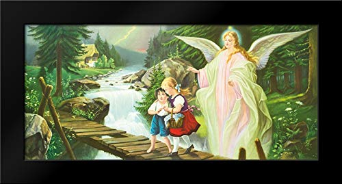 Guardian Angel Framed Art Print by Lindberg ()