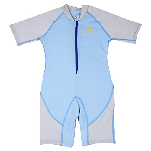 Nozone Boys Ultimate One-Piece Sun Protective UPF 50+ Swimsuit in Spa/Ash, 4 ()