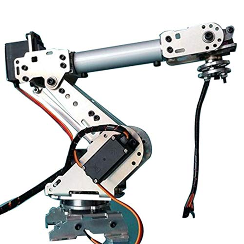 (Flameer 6 Degree of Freedom 6 Axis Robot Mechanical Arm with 6 Servos for Arduino DIY Kits Science Toy)