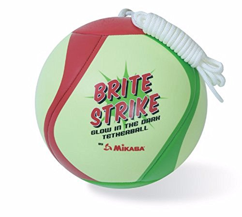 Mikasa Glow in the Dark outdoor tetherball, green/red/Smart - Dark Rope