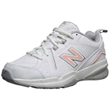 New Balance Women's 608v5 Casual Comfort Cross Trainer, White/Pink, 9 W US