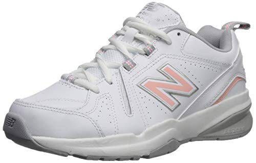 New Balance Women's 608v5 Casual Comfort Cross Trainer, White/Pink, 11 B US