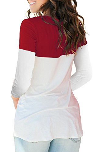 shirt Dasbayla T L burgundy Donna 5w1wzOvZq