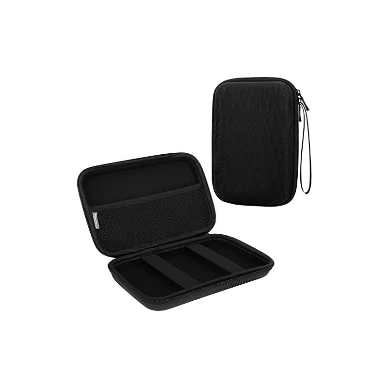 """MoKo 7-Inch GPS Carrying Case, Portable Hard Shell Protective Pouch Storage Bag for Car GPS Navigator Garmin/Tomtom / Magellan with 7"""" Display - Black"""