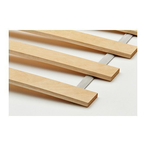 Wood Slatted Bed Base Size Fits Ikea Bed Frames , Birch (Queen)
