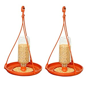 VREENY Bottle Bird Feeder (Terra Cotta) -2 Pieces