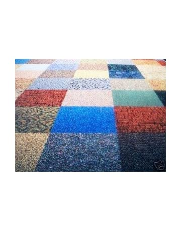 Dean Commercial Carpet Tile - Random Assorted Colors - 40 Square Feet