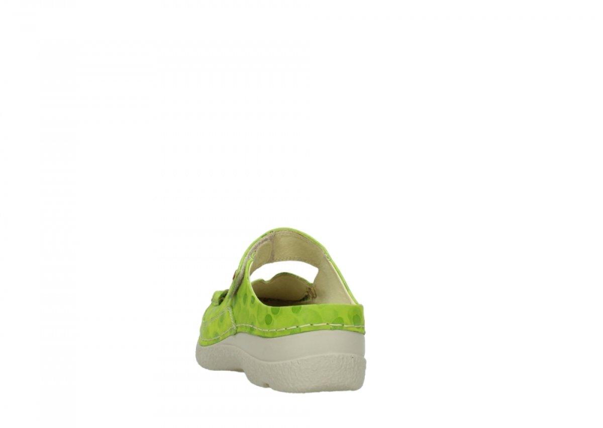 Wolky Roll Slipper Slipper Slipper 06227 Damen Pantoletten 12750 Lime Nubukleder e90bff