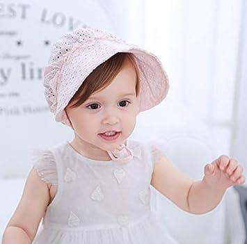 4b8725ec26d96 ベビー 赤ちゃん 帽子 ハット レース 春夏 可愛い 玉飾り メッシュ 涼しい 通気性 100%