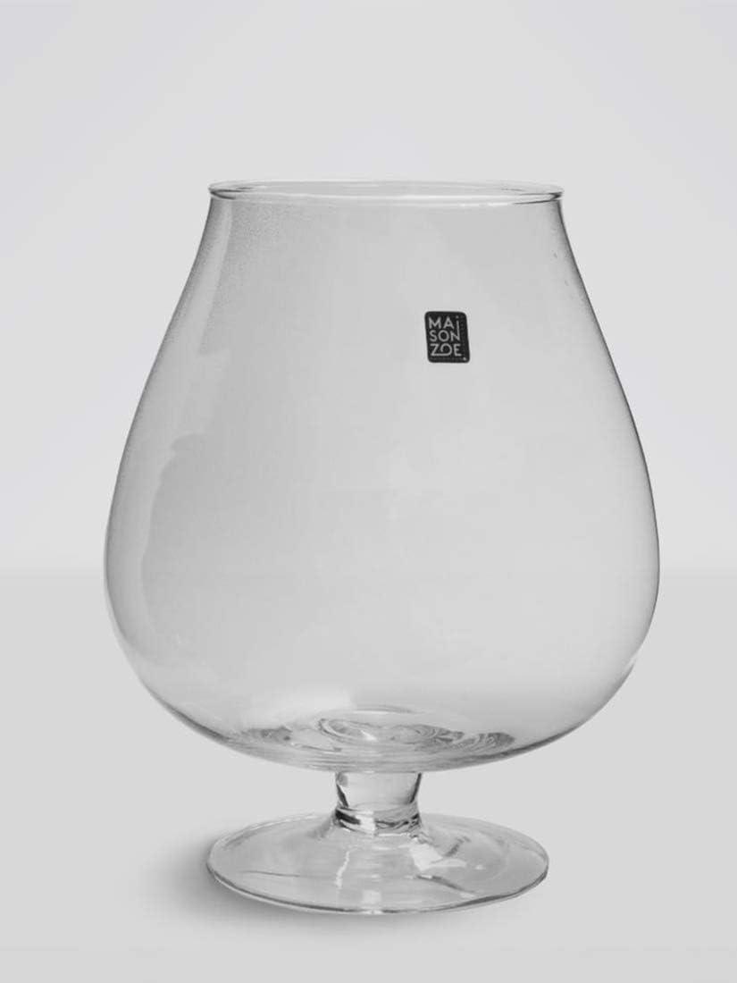 Deco /& Boda 15 cm de Altura Maison Zoe Jarr/ón de Cristal soplado y Hecho a Mano 2 x Cilindro de 10 cm de di/ámetro