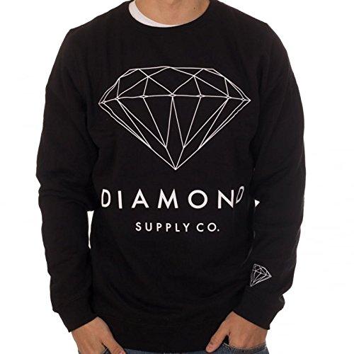 design senza tempo e6434 3dea4 Felpa Diamond: Brilliant Diamond Crewneck BK: Amazon.it ...