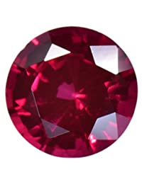 Deep Red Synthetic Ruby 6mm Round Loose Gemstone (1)