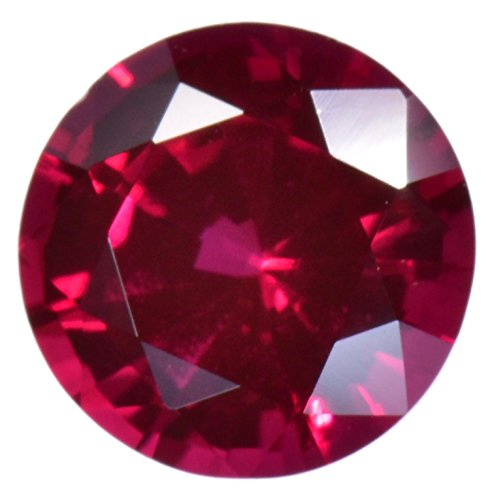 (Deep Red Synthetic Ruby 6mm Round Loose Gemstone (1))