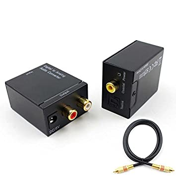 Coaxial Digital de Fibra óptica a Analógico LR de Audio convertidor SPDIF Digital Audio convertidor decodificador