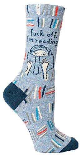 Blue Q Socks  Womens Crew  F  K Off Im Reading