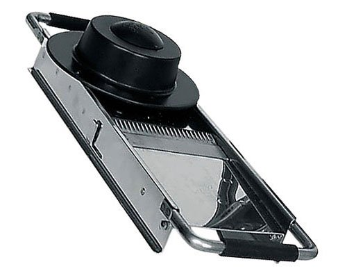 Bron Chef's Mandolin Slicer With Safety Feet and Four Cutting Blades, Made in France