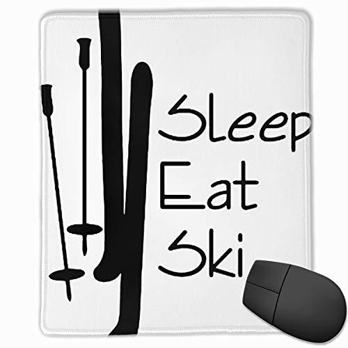 Eat Sleep Ski Watercolor Nature Rubber Mouse Mat 18x22IN Design Ergonomic Mousepad ()