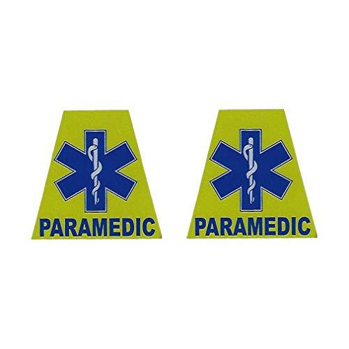 Paramedic Reflective Tetrahedrons Firefighter TET Sticker Helmet Decal - T 42 ()