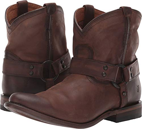 (FRYE Women's Wyatt Harness Dark Brown 7.5 B US)