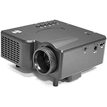 Pyle Video Projector 1080p Full HD-USB HDMI DVI Inputs, Remote Control, Keystone, LCD LED, Digital Multimedia, Mini Home Theater Movie Cinema for TV Laptop PC Computer and Business Offices - (PRJG45)