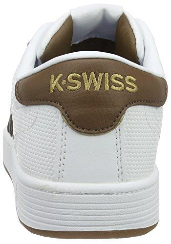K-Swiss Herren Hoke EQ CMF Low-Top Weiß (White/Bison/Toffee Gum)